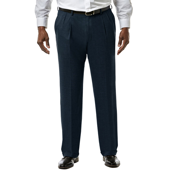 Big & Tall J.M. Haggar Premium Stretch Suit Pant - Pleated Front, Dark Navy open image in new window