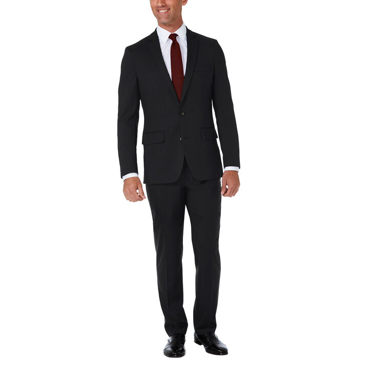 J.M. Haggar Premium Stretch Shadow Check Suit Jacket, Black, hi-res