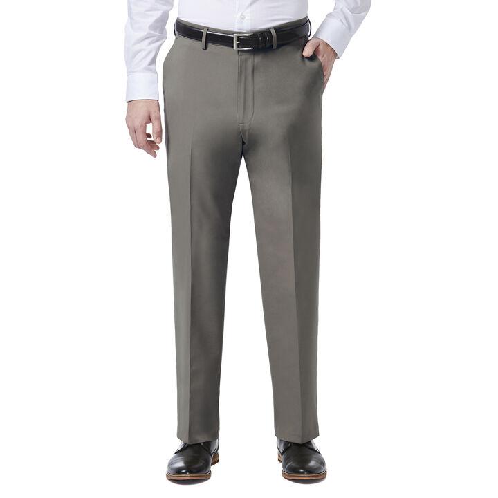 JM Haggar 4 Way Stretch Dress Pant, Medium Grey