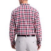 Heathered Gingham Flannel Shirt , Tibetan Red 2