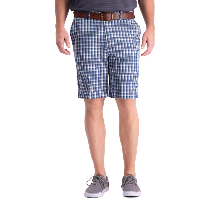 Cool 18® Pro Heather Check Short, Navy open image in new window