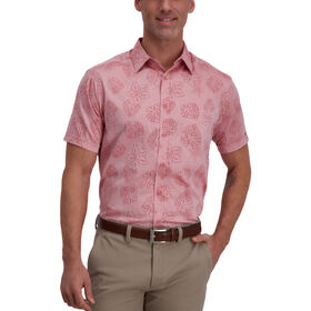 Chambray Leaf Shirt, Woodrose