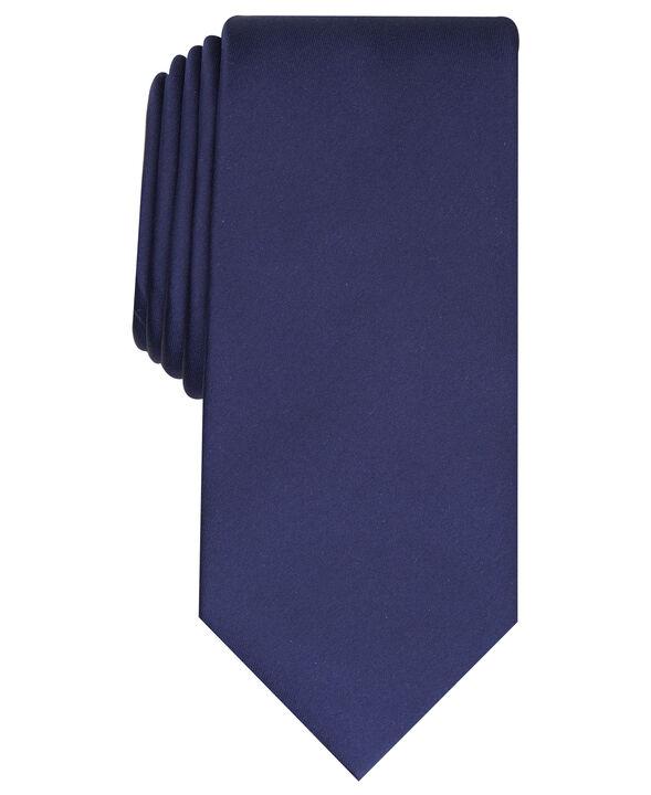 Fashion Satin Solid Tie, Navy