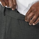 Big & Tall J.M. Haggar Premium Stretch Suit Pant - Flat Front, Dark Heather Grey view# 4