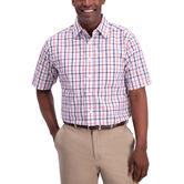 Plaid Button Down Shirt, Red 1