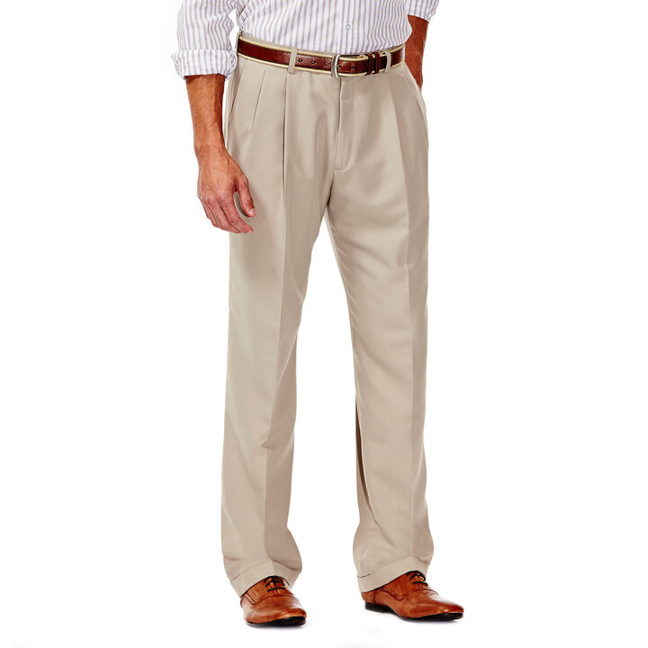 Smart Fiber Herringbone Dress Pant, Stone