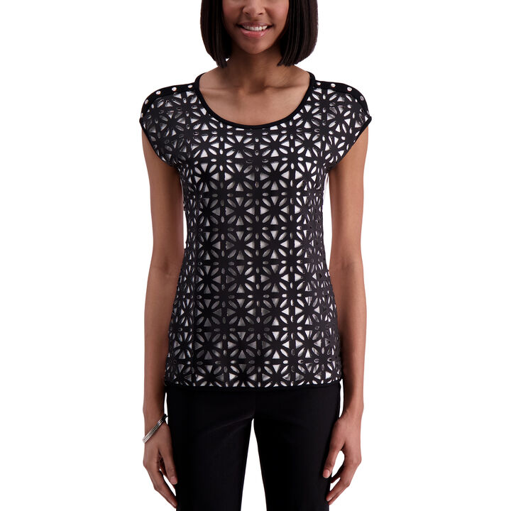 Laser Cut Top,  Black
