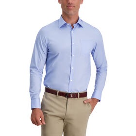 Premium Comfort Solid Dress Shirt, Light Blue