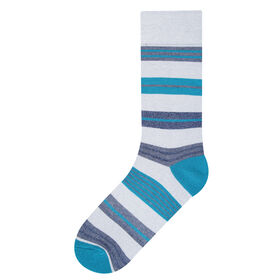 Avalon Stripe Socks, Turquoise