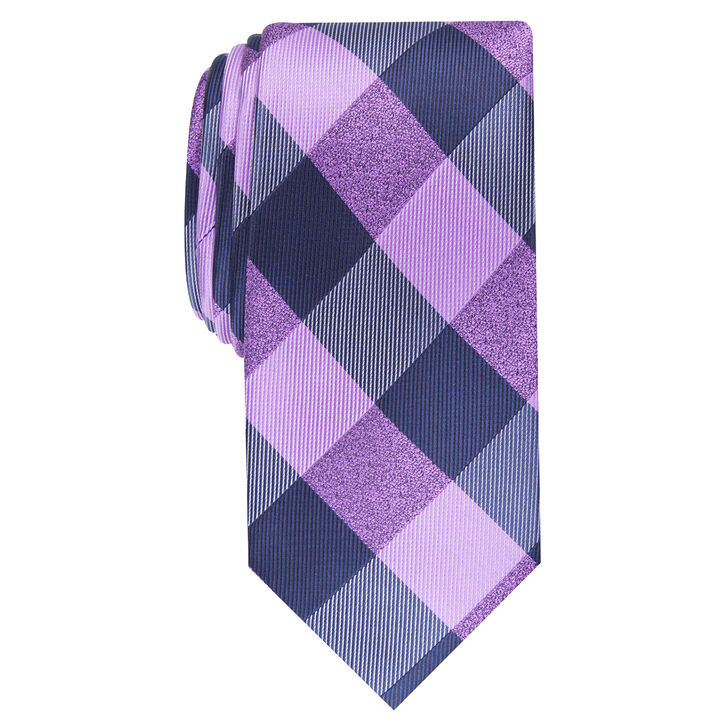 Walter Plaid Tie, Purple