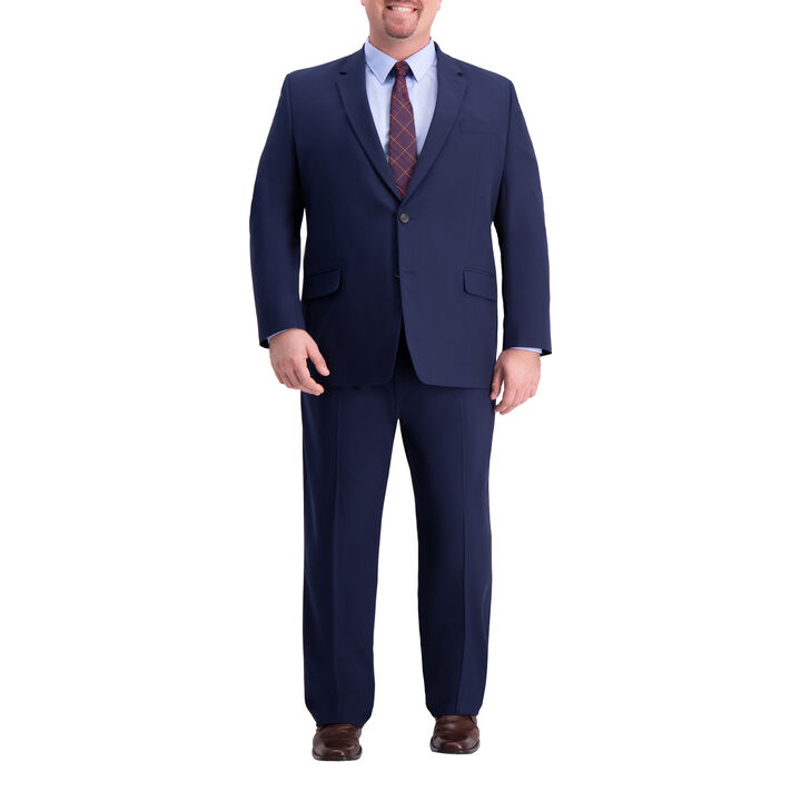 Big & Tall J.M. Haggar 4-Way Stretch Suit Jacket, Blue, hi-res