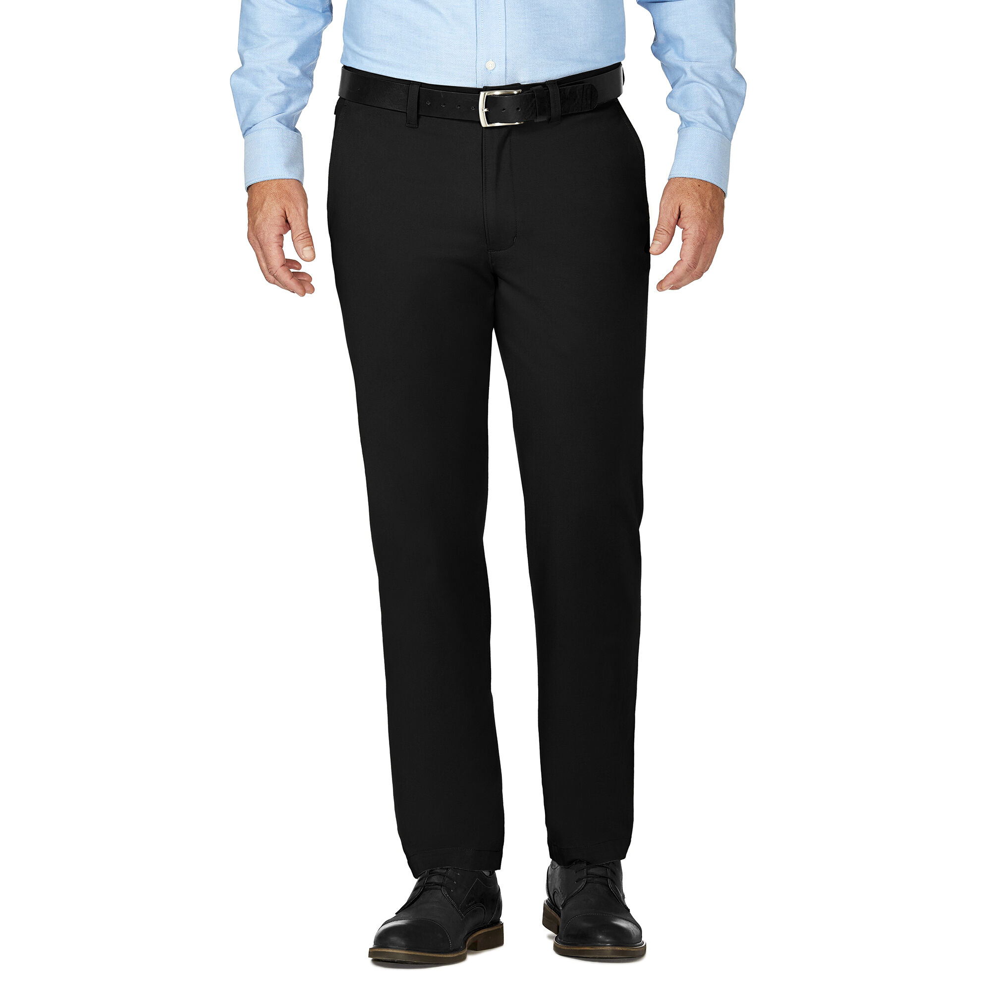 Haggar Mens City Chino Stretch Slim-Fit Flex-Waistband Flat-Front Pant