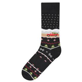 Christmas Truck Socks, Black
