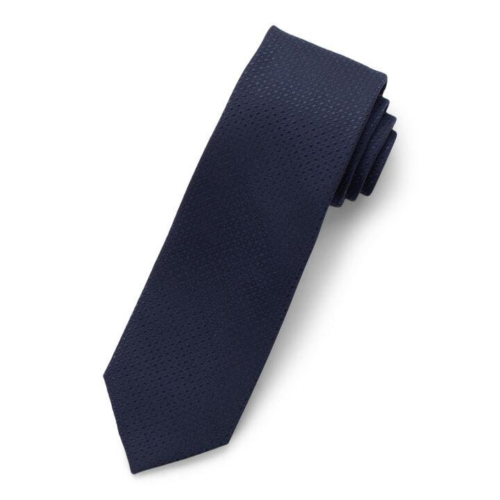 Solid Texture Tie, Navy