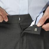 J.M. Haggar Dress Pant - Sharkskin, Medium Grey view# 4