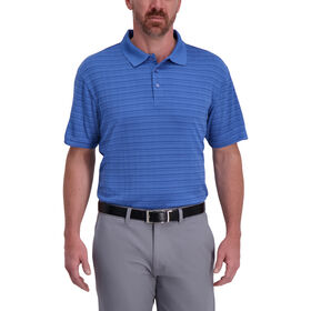 Cool 18® Pro Striped Golf Polo, Marine Blue