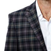 Tartan Plaid Sport Coat, Chocolate 4