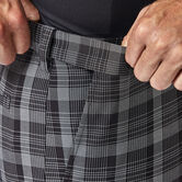 Cool 18® Pro Pinstripe Plaid Short, Black 4