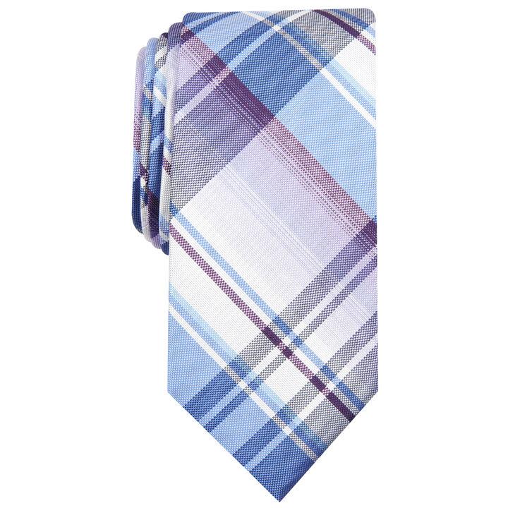 Ementh Plaid Tie, Purple