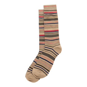 Multi Stripe Sock, Beige