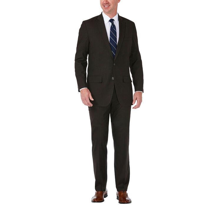 J.M. Haggar Premium Stretch Suit Jacket, Chocolate, hi-res