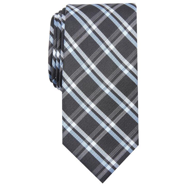 Grid Plaid Tie, Bean