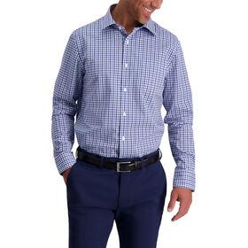 Thick Plaid Premium Comfort Dress Shirt, Medium Blue