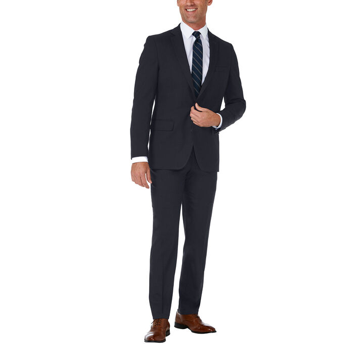 J.M. Haggar Premium Stretch Suit Jacket, Dark Navy, hi-res