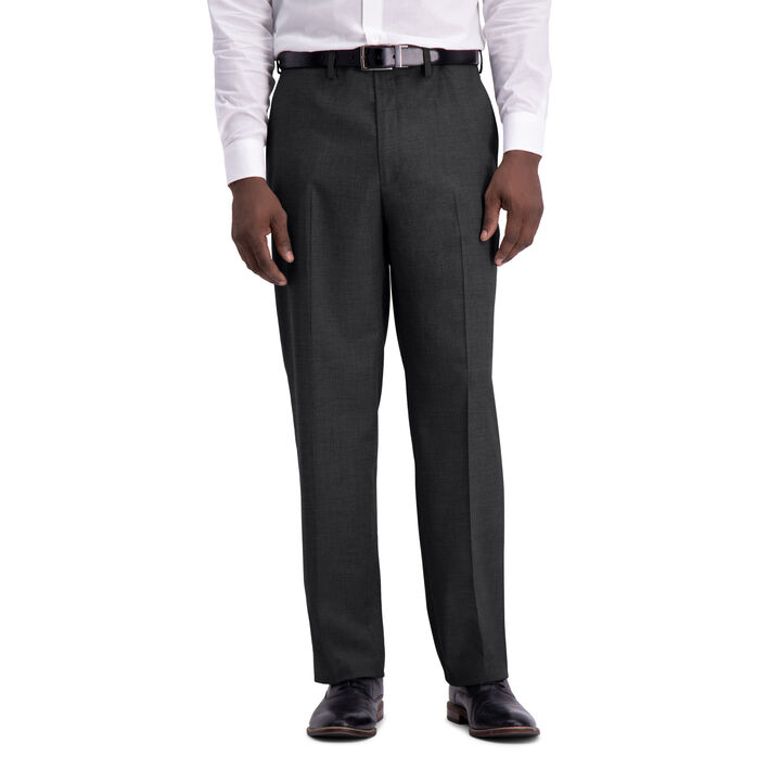 J.M. Haggar Texture Weave Suit Pant, Charcoal Heather open image in new window