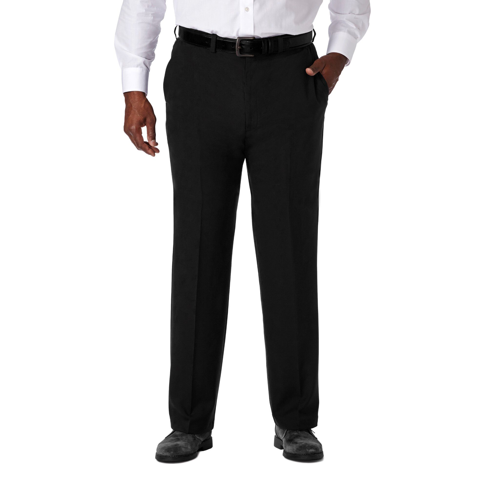 Haggar Mens Big and Tall Cool 18 Pro Classic Fit Flat Front Pant