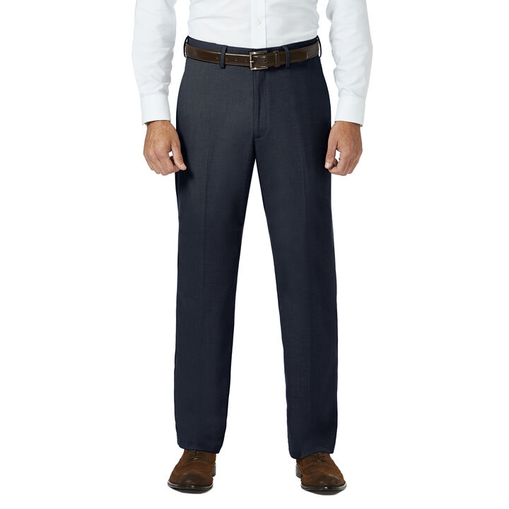 J.M. Haggar Dress Pant - Sharkskin, Dark Navy open image in new window