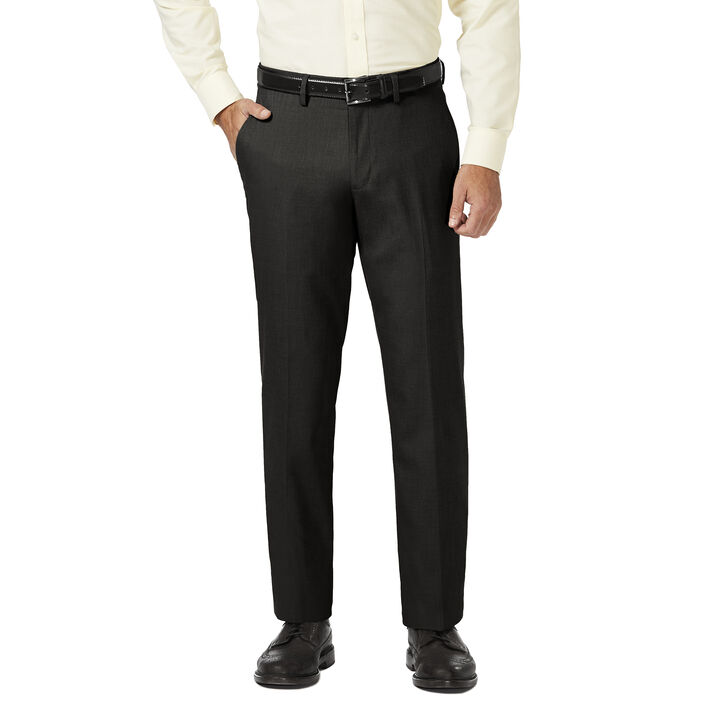 J.M. Haggar Dress Pant - Sharkskin, Black open image in new window