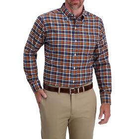 Tattersal Two Tone Dress Shirt, Aubergine
