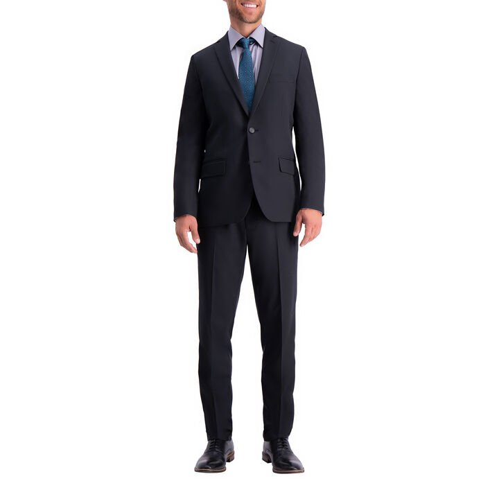 The Active Series™ Herringbone Suit Jacket, Black, hi-res