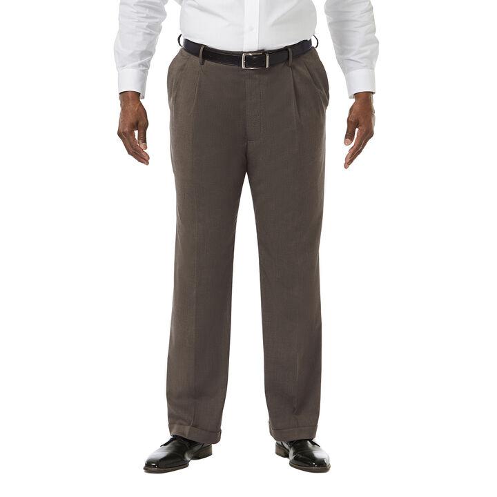 Big & Tall Premium Stretch Dress Pant, Medium Brown