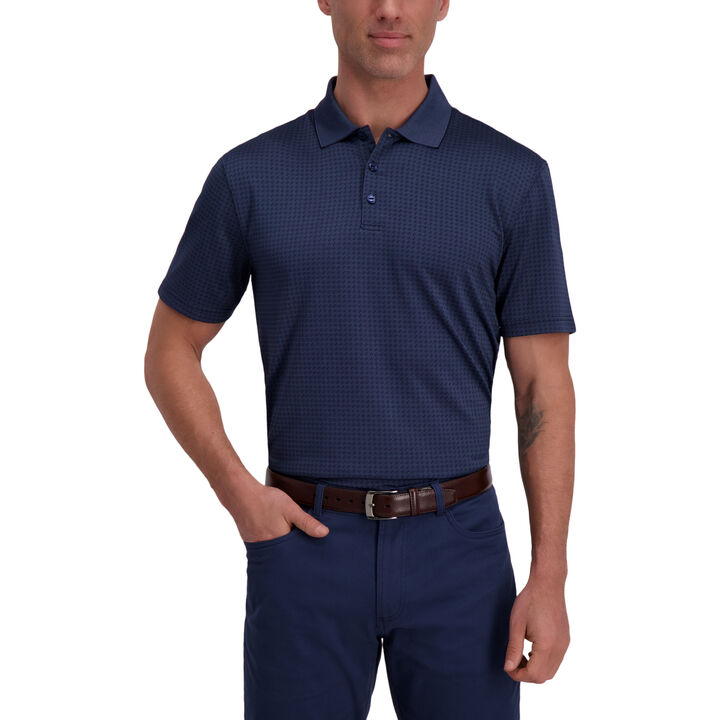 The Active Series™ Diamond Textured Polo, Admiral Blue