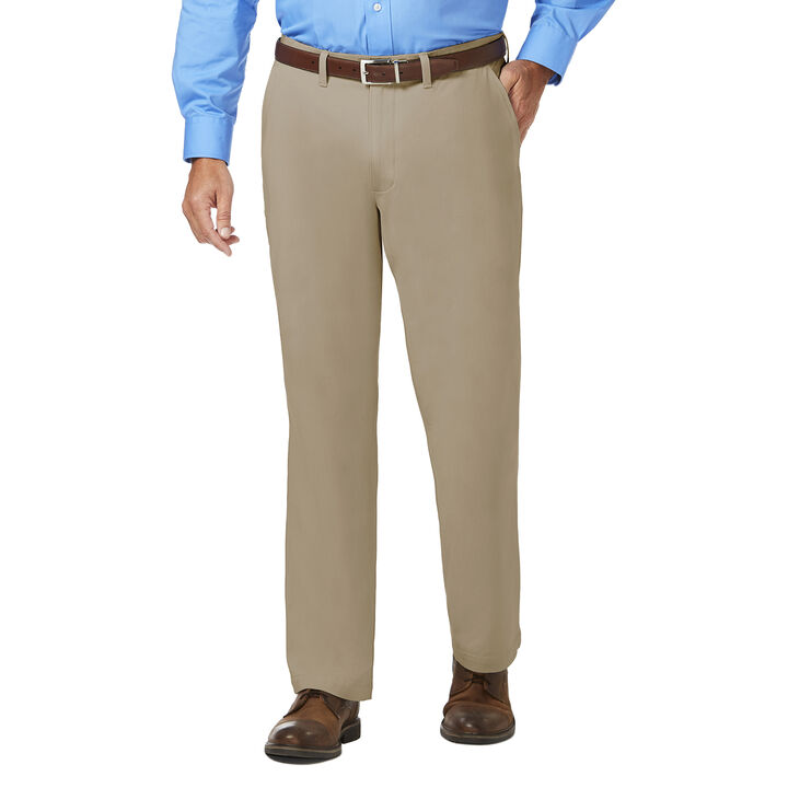 J.M. Haggar Luxury Comfort Chino, Khaki open image in new window