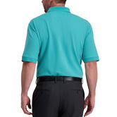 Large Box Print Polo, Jade 2