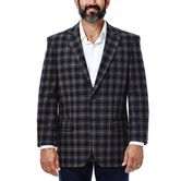 Tartan Plaid Sport Coat, Chocolate 1