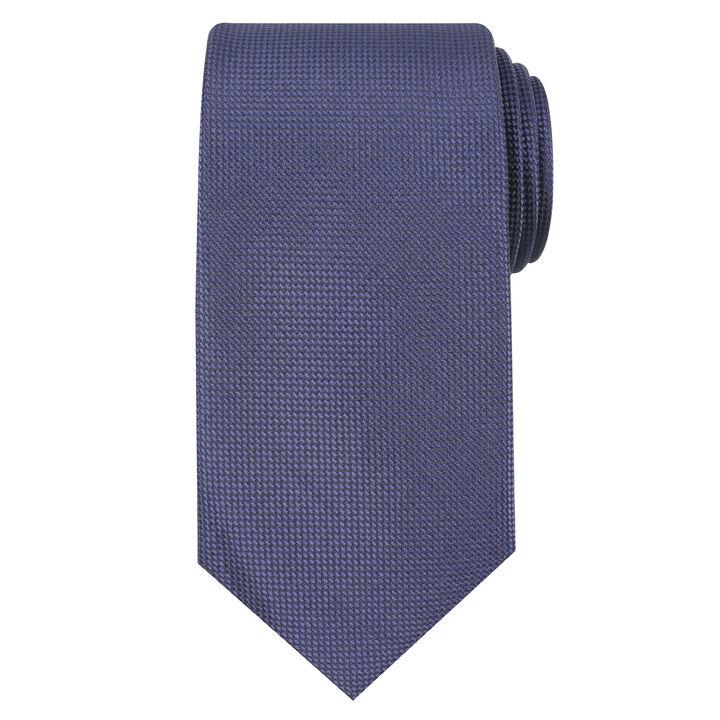 Oxford Solid Tie, Navy