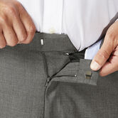 Big & Tall J.M. Haggar Dress Pant - Sharkskin, Medium Grey 4