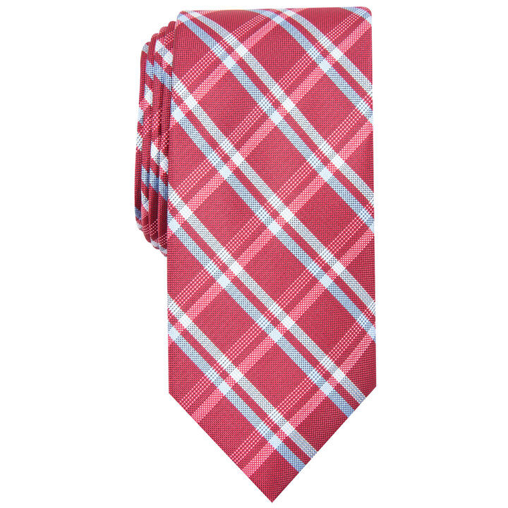 Grid Plaid Tie, Red