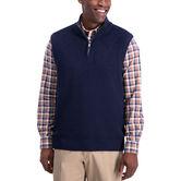 1/4 Zip Sweater Vest, Navy Heather 1