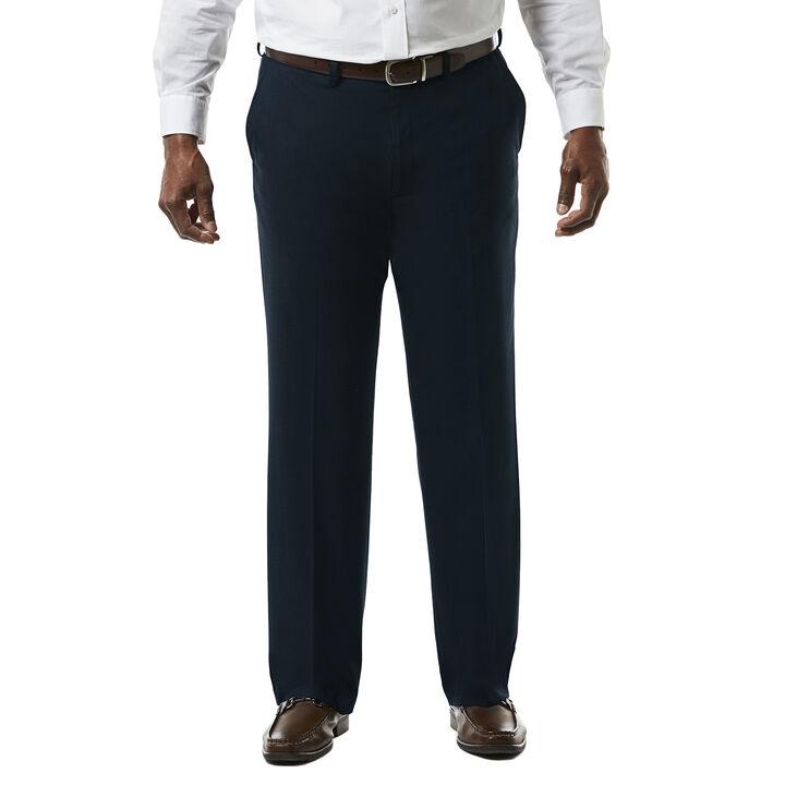 Big & Tall J.M. Haggar Premium Stretch Suit Pant - Flat Front, Dark Navy