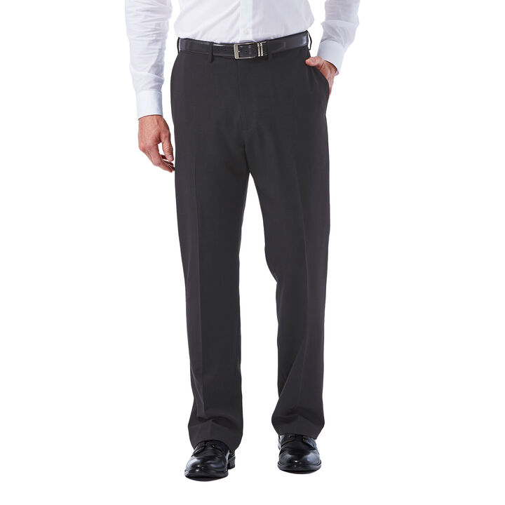 Big & Tall E-CLO™ Tonal Plaid Dress Pant, Black / Charcoal