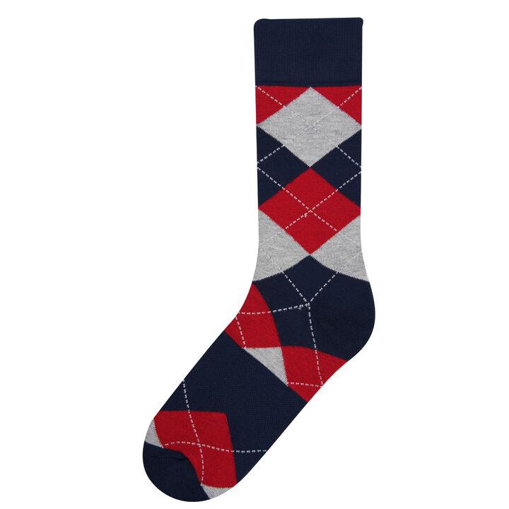 Navy Argyle Socks, Navy
