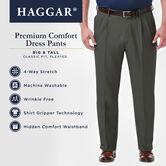 Big & Tall Premium Comfort Dress Pant, Black / Charcoal 6