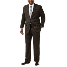 Big & Tall J.M. Haggar Premium Stretch Suit Jacket, Chocolate