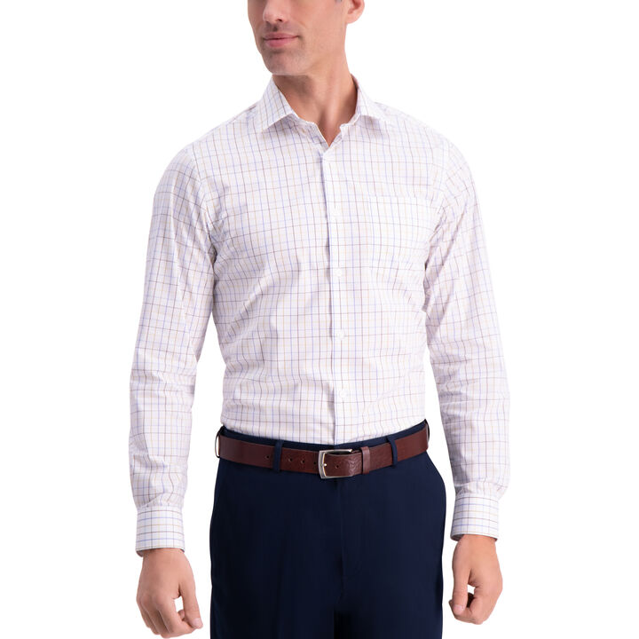 Plaid Premium Comfort Dress Shirt, Olive
