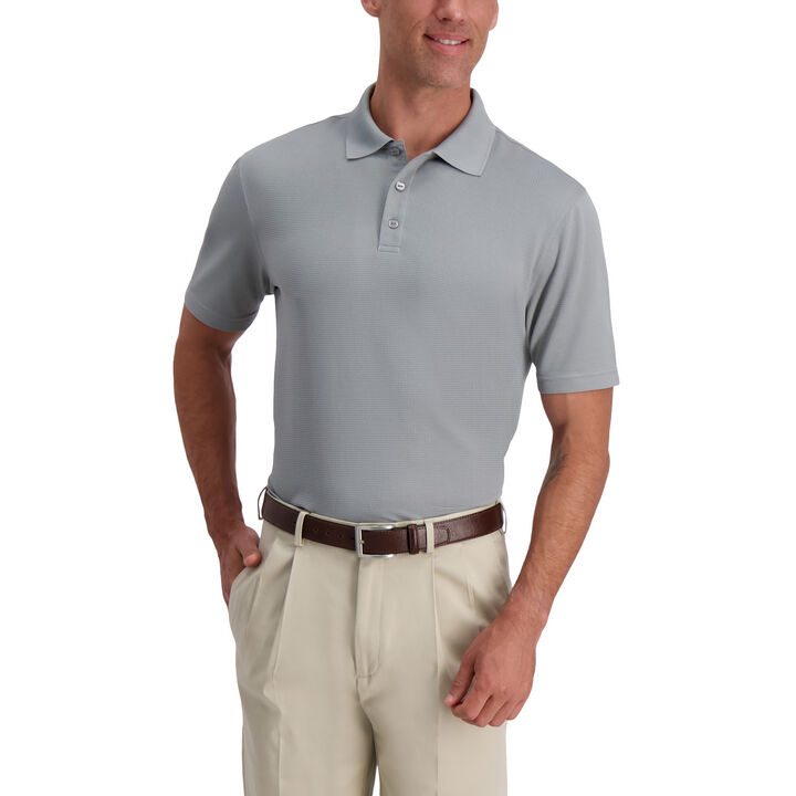 Texture Solid Polo,  Stainless Steel